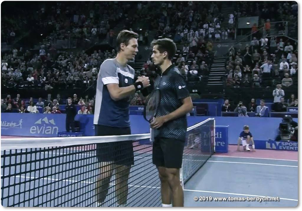 Tomas Berdych and Pierre-Hugues Herbert