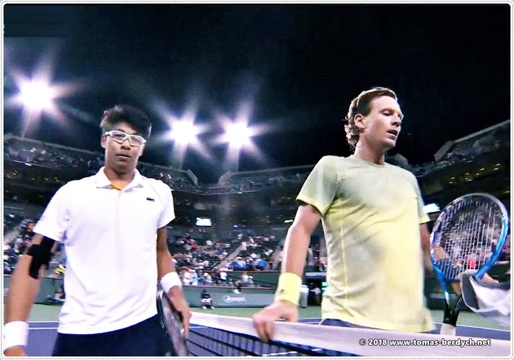 Hyeon Chung and Tomas Berdych